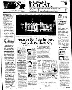 Syracuse Post Standard, August 15, 2005, Page 11