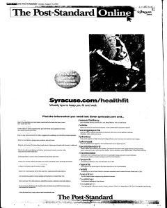Syracuse Post Standard, August 16, 2005, Page 12