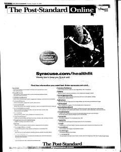 Syracuse Post Standard, August 16, 2005, Page 78