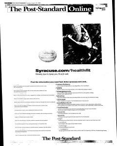 Syracuse Post Standard, August 16, 2005, Page 96