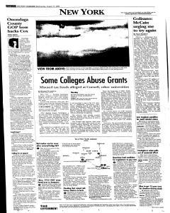 Syracuse Post Standard, August 17, 2005, Page 62