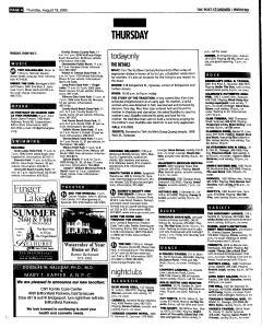 Syracuse Post Standard, August 18, 2005, Page 52