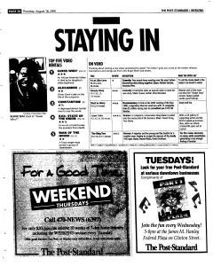 Syracuse Post Standard, August 18, 2005, Page 76
