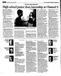Syracuse Post Standard, August 18, 2005, Page 82