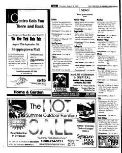 Syracuse Post Standard, August 18, 2005, Page 86
