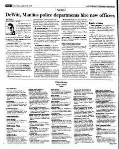 Syracuse Post Standard, August 18, 2005, Page 88