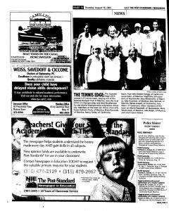 Syracuse Post Standard, August 18, 2005, Page 90