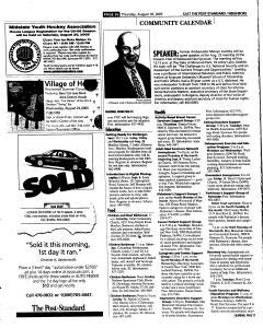 Syracuse Post Standard, August 18, 2005, Page 106