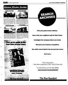 Syracuse Post Standard, August 18, 2005, Page 112