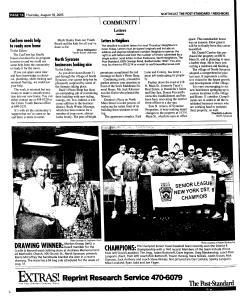 Syracuse Post Standard, August 18, 2005, Page 128