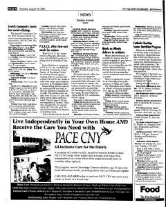 Syracuse Post Standard, August 18, 2005, Page 190