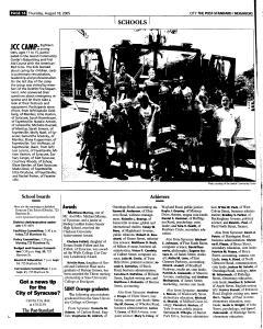 Syracuse Post Standard, August 18, 2005, Page 198