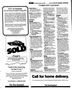 Syracuse Post Standard, August 18, 2005, Page 317
