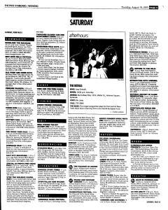 Syracuse Post Standard, August 18, 2005, Page 57