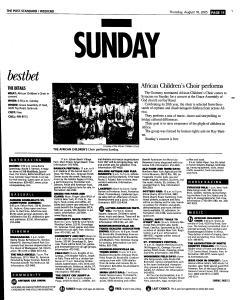Syracuse Post Standard, August 18, 2005, Page 59