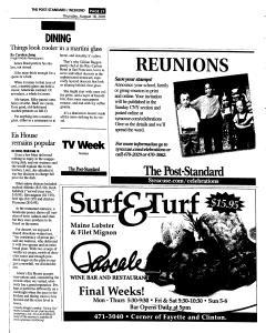 Syracuse Post Standard, August 18, 2005, Page 69