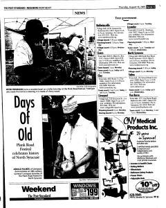 Syracuse Post Standard, August 18, 2005, Page 121