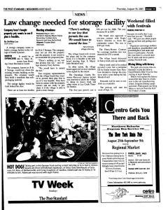 Syracuse Post Standard, August 18, 2005, Page 123