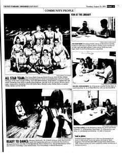 Syracuse Post Standard, August 18, 2005, Page 129