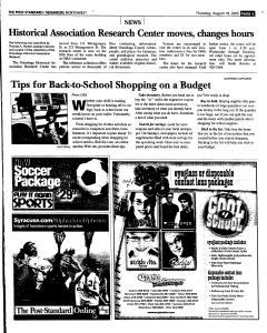 Syracuse Post Standard, August 18, 2005, Page 153