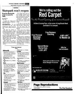 Syracuse Post Standard, August 18, 2005, Page 155