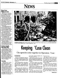 Syracuse Post Standard, August 18, 2005, Page 187