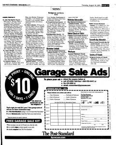 Syracuse Post Standard, August 18, 2005, Page 207
