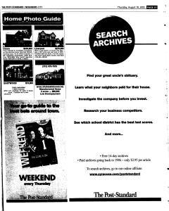 Syracuse Post Standard, August 18, 2005, Page 215