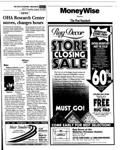 Syracuse Post Standard, August 18, 2005, Page 225