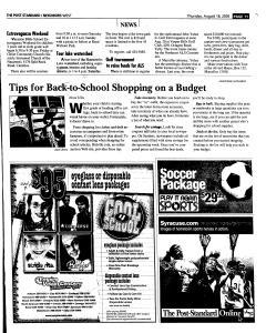 Syracuse Post Standard, August 18, 2005, Page 227