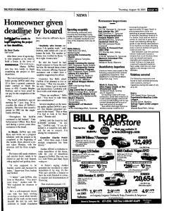 Syracuse Post Standard, August 18, 2005, Page 231