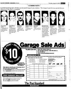 Syracuse Post Standard, August 18, 2005, Page 322