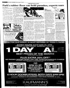 Syracuse Post Standard, August 19, 2005, Page 62