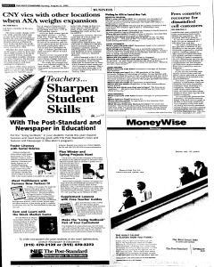 Syracuse Post Standard, August 21, 2005, Page 52