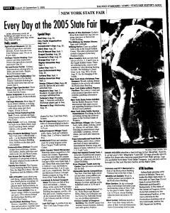 Syracuse Post Standard, August 21, 2005, Page 127