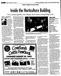 Syracuse Post Standard, August 21, 2005, Page 131