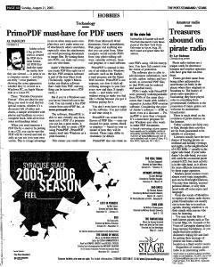 Syracuse Post Standard, August 21, 2005, Page 153