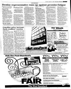 Syracuse Post Standard, August 21, 2005, Page 49