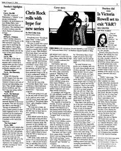 Syracuse Post Standard, August 21, 2005, Page 160