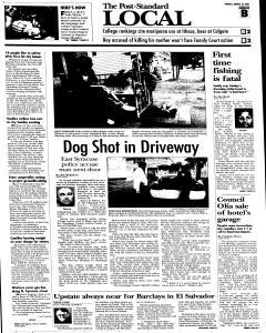 Syracuse Post Standard, August 23, 2005, Page 13