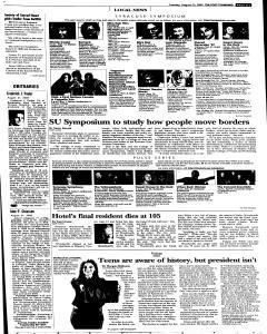 Syracuse Post Standard, August 23, 2005, Page 17