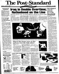 Syracuse Post Standard, August 23, 2005, Page 47