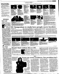 Syracuse Post Standard, August 23, 2005, Page 81