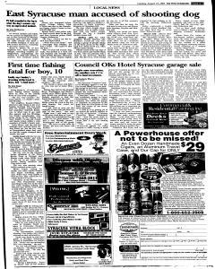 Syracuse Post Standard, August 23, 2005, Page 97