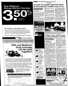 Syracuse Post Standard, August 24, 2005, Page 4
