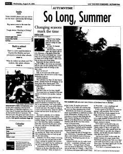 Syracuse Post Standard, August 24, 2005, Page 58