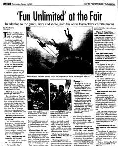 Syracuse Post Standard, August 24, 2005, Page 66