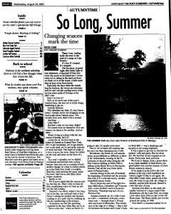 Syracuse Post Standard, August 24, 2005, Page 97
