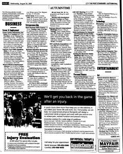Syracuse Post Standard, August 24, 2005, Page 177