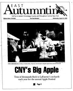 Syracuse Post Standard, August 24, 2005, Page 57